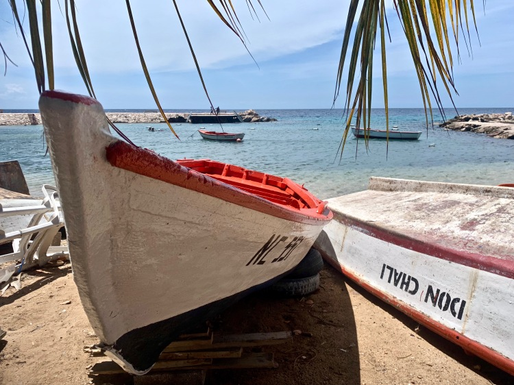 small boats on beach