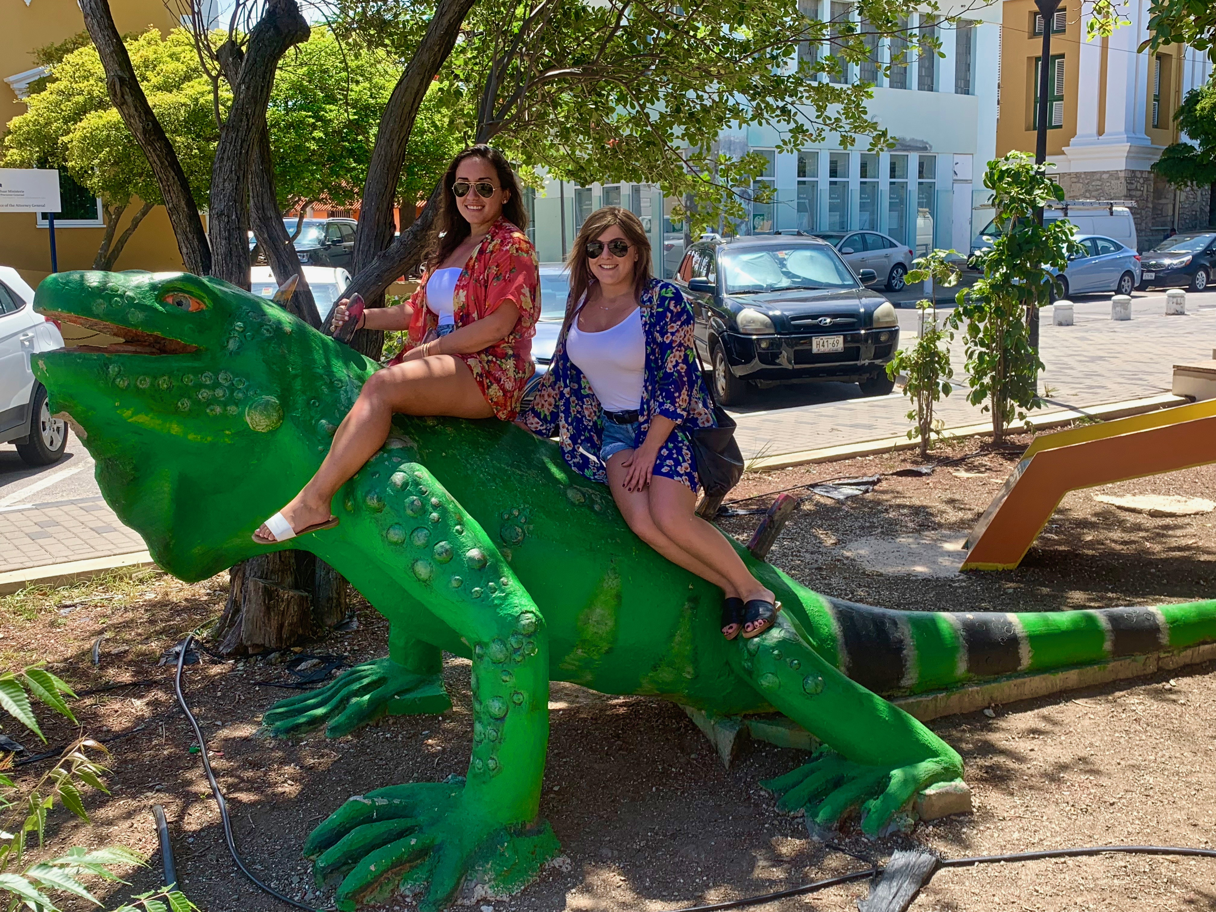 giant iguana statue