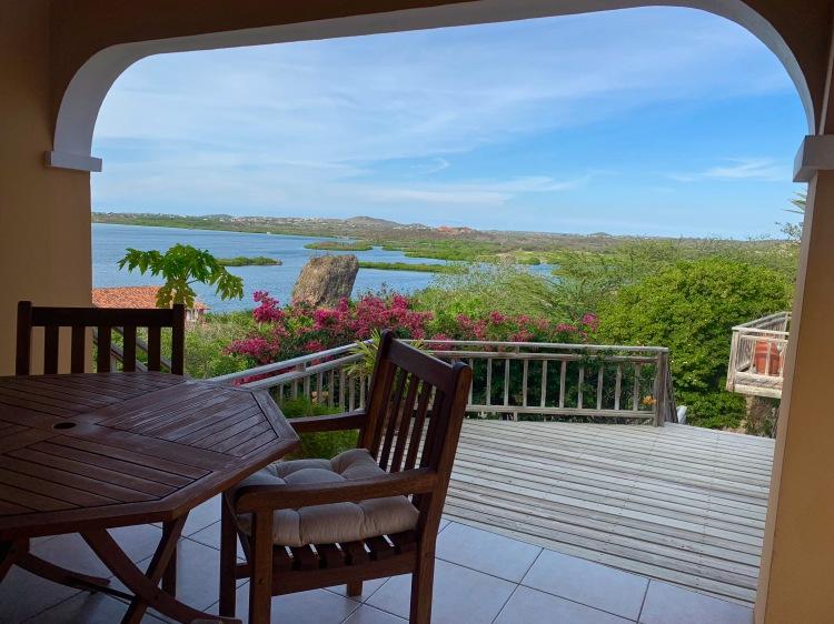 breakfast room overlooking the bay