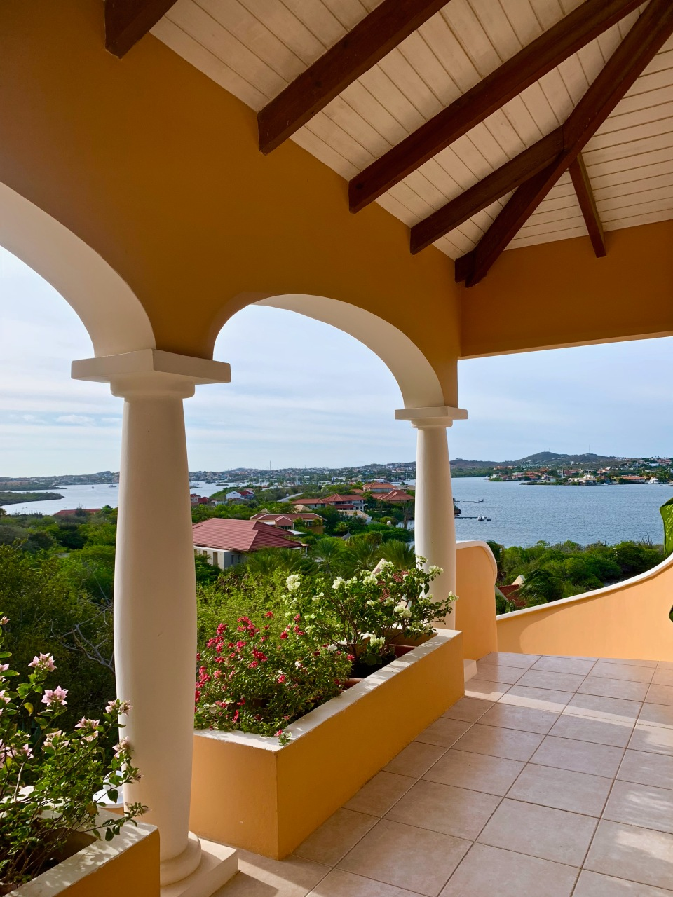 porch overlooking bay