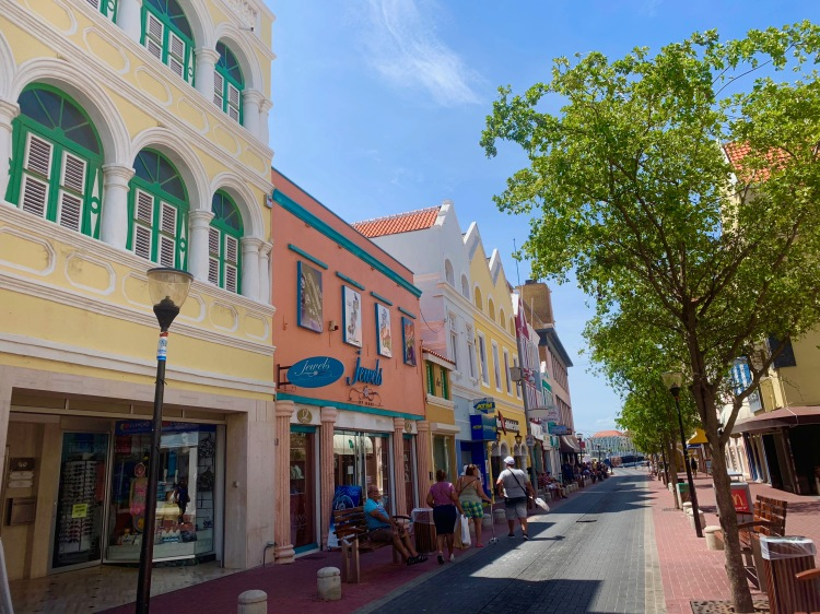 Colorful buildings in Punda Curacao